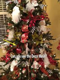 attractive design deco mesh christmas tree exquisite decorating