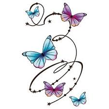 butterfly swirls large temporary transforms your