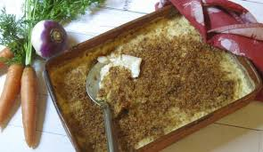 root vegetable gratin is tasty side dish for thanksgiving