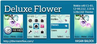 theme maker nokia 2690 deluxe flower theme for nokia c1 01 c2 00 110 112 2690 128 160