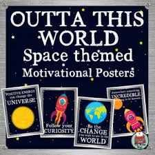 themed posters space themed classroom decor motivational posters outta this world
