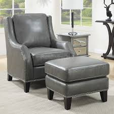 Chair W Ottoman Cool Gray Leather Ottoman Grey Accent Chair W Ottoman Coaster