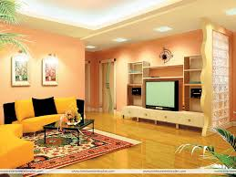 indian drawing room with pop colors home wall decoration