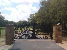 drive gate 41 aaron ornamental iron works our house at oaken