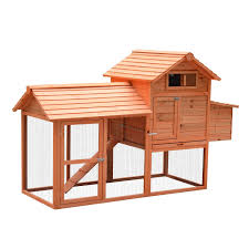 Rabbit Hutch With Detachable Run Pawhut 62