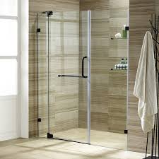 48 Shower Doors Vigo Pirouette 48 X 72 Pivot Frameless Shower Door Reviews