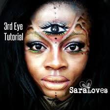 third eye make up fancy dress halloween tutorial by saraloves