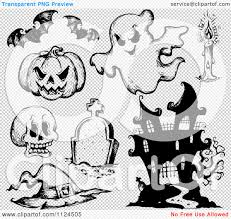 halloween black and white background clipart of sketched black and white halloween items 1 royalty