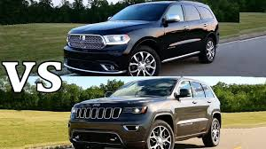 jeep durango 2016 2018 dodge durango citadel vs 2017 jeep grand cherokee youtube