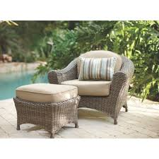 weathered grey wicker patio furniture home outdoor decoration