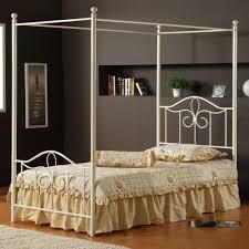 hillsdale westfield 4 piece metal canopy bedroom set in white hillsdale westfield 4 piece metal canopy bedroom set in white