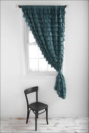 Large Window Drapery Ideas Interiors Wonderful Sheer Waterfall Curtain Valance Large Window