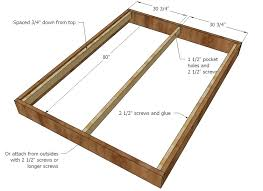 How To Make Wood Platform Bed Frame by Ana White Chestwick Platform Bed Queen Size Diy Projects
