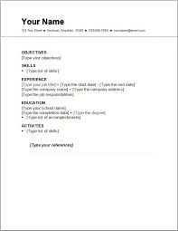 exles of simple resumes resume for a exle exles of resumes
