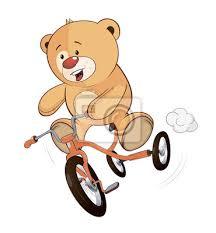 imagenes animadas oso un cachorro de oso de peluche de dibujos animados y triciclo