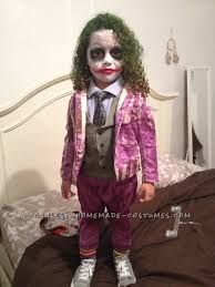 creative and unique homemade joker costume for a toddler joker