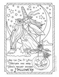 vintage halloween art downloadable coloring pages