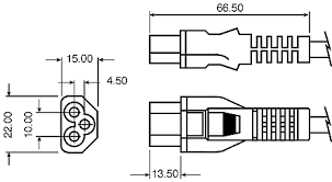 rs pro 2m power cord c5 to schuko cee 7 4 16 iec 60884 1 cee7