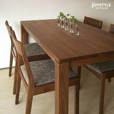 solid walnut dining table joystyle interior rakuten global market amount depends on size