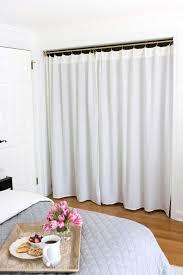 Removing Folding Closet Doors Replacing Bi Fold Closet Doors With Curtains Our Closet Makeover