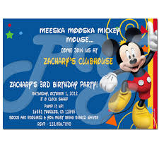 mickey mouse clubhouse birthday invites mickey mouse clubhouse birthday invitations afoodaffair me