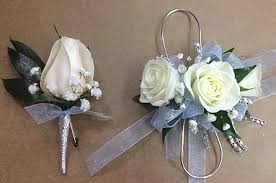 corsage and boutonniere set light blue silver and white corsage and boutonniere set in smyrna