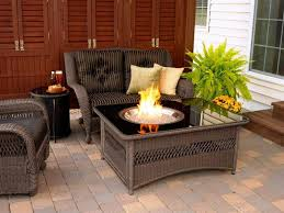 modern patio furniture with fire pit set home fireplaces