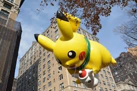 pikachu and his adorable snowman balloon returned for this year s