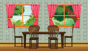 Mediterranean Dining Room Furniture by Illustration Of A Colorful Dining Room Royalty Free Cliparts