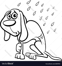 homeless dog cartoon coloring page royalty free vector image
