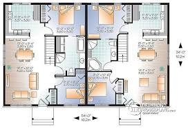 2 house plan multi family plan w2085 v1 detail from drummondhouseplans com