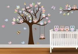 hibou chambre bébé decoration chambre bebe fille hibou visuel 1