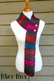 simple pattern crochet scarf fiber flux free crochet pattern autumn gems button scarf