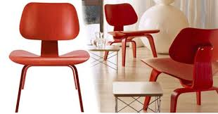 Eames Plywood Chair Thursday Giveaway Eames Molded Plywood Lounge Chair In Red