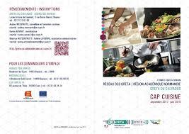 vae cap cuisine cap cuisine lycée polyvalent arcisse de caumont bayeux