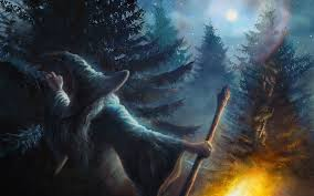 gandalf fire the lord of the rings fantasy art wizards pine trees