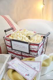 Movie Night Gift Basket Ideas Valentine U0027s Day Basket Blog Hop The Idea Room