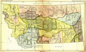 Montana Maps Indian Land Cessions In The U S Montana 1 Map 39 United