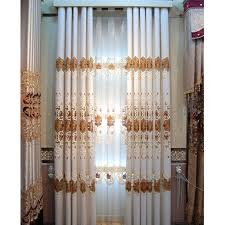 Nice Curtains For Living Room Shabby Chic Beige Chenille Pierced Design Living Room Curtain