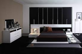 contemporary 5 bedroom set impera black white