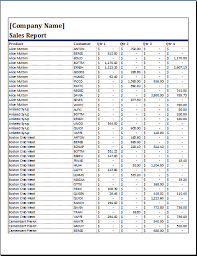 ms word sales report template word document templates