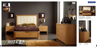 Solid Wood Contemporary Bedroom Furniture by Alicante 515 Cherry M77 C77 The Contemporary Bedroom Set By