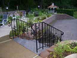 Porch Stair Handrail Exterior Wrought Iron Railing Designs Aluminum Balcony Railing