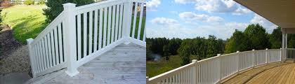 vinyl porch rail co decks patios u0026 outdoor enclosures