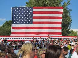 American Flag Backdrop Mitt Romney Jackson Liberty Letter