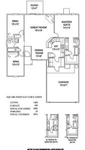 first floor plan of traditional house plan 98505 house plans