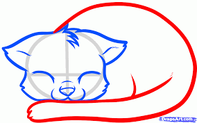 how to draw a sleeping cat sleeping cat step by step pets