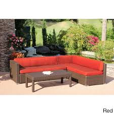 Conversation Settee 3 Piece Wicker Conversation Sectional Set Free Shipping Today
