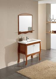 aliexpress com buy bathroom base cabinet with mirror solid oak