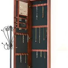 Bedroom Wall Organizer Armoire Mesmerizing Wall Hanging Jewelry Armoire For Home Wall
